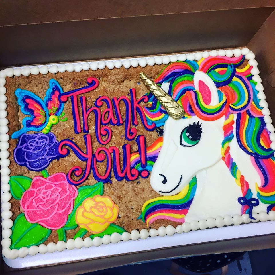 Quot Lisa Frank Quot Unicorn Cookie Cake Hayley Cakes And