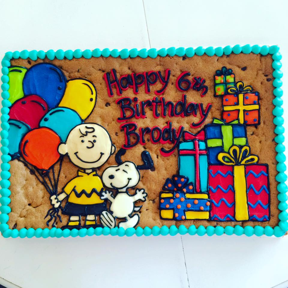 Charlie Brown And Snoopy Cookie Cake Hayley Cakes And
