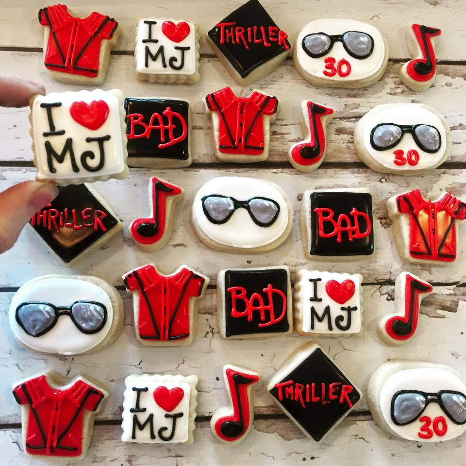 Awesome Mini Michael Jackson Thriller Cookies Hayley Cakes And Funny Birthday Cards Online Hetedamsfinfo