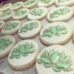 Lotus Acupuncture logo cookies