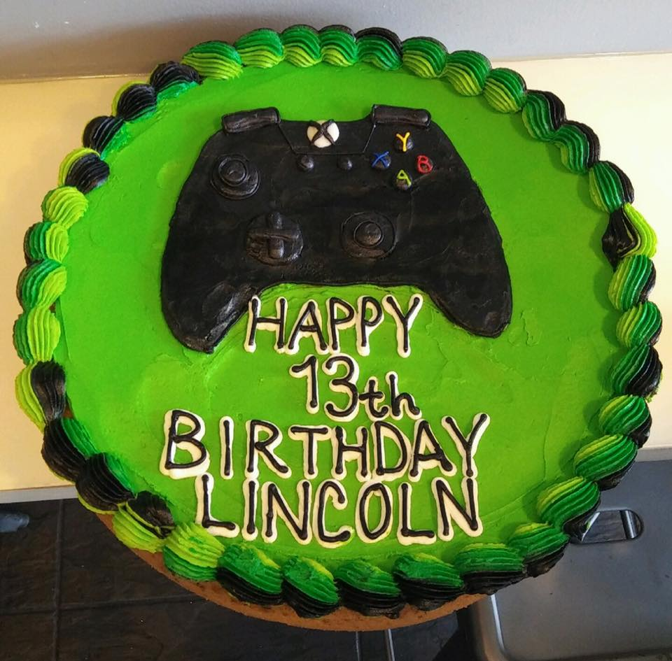 Enjoyable Green Xbox Cookie Cake Hayley Cakes And Cookieshayley Cakes And Funny Birthday Cards Online Inifofree Goldxyz