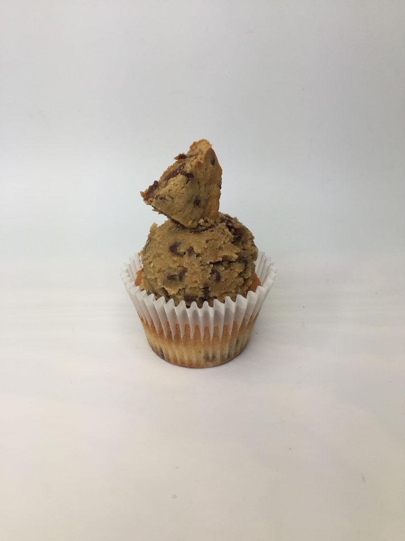 Choco Chip Cookie Dough Cupcake