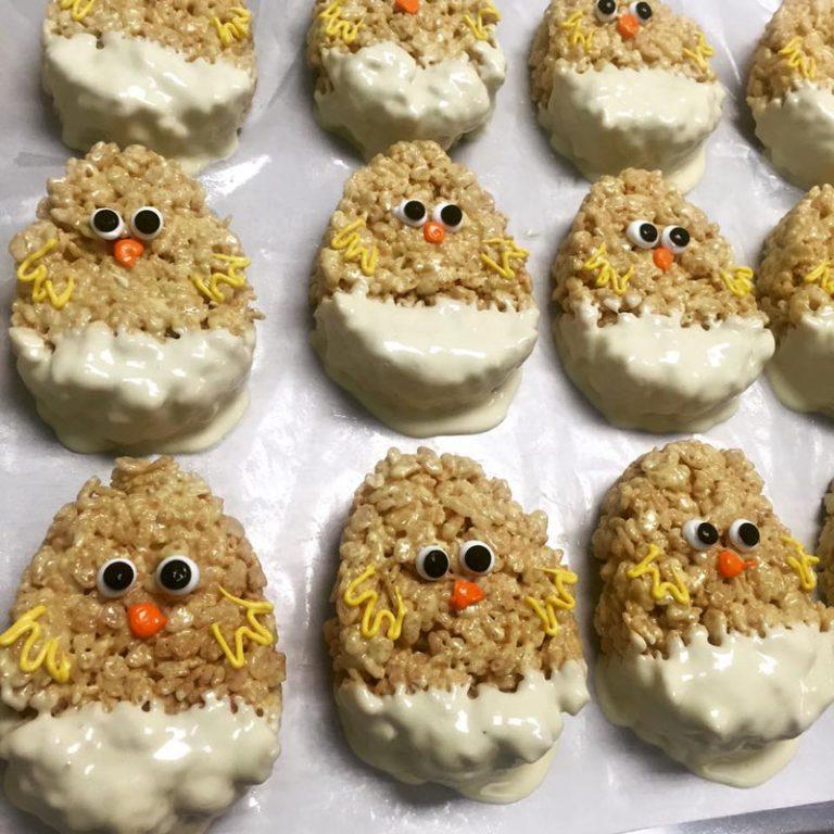 Krispie chicks easter treats