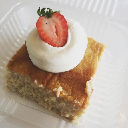 tres leches cake squares