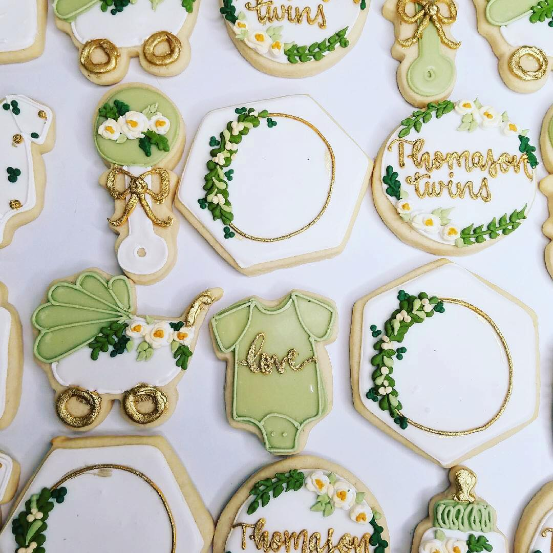 ... greenery baby shower cookies. Check Availability