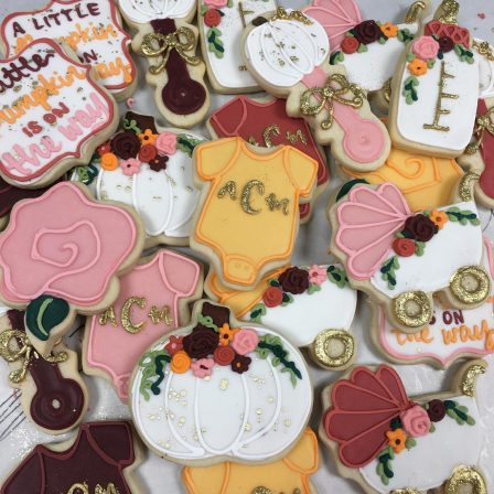 Halloween Themed Baby Shower Cookies.Baby Shower And Gender Reveal Archives Hayley Cakes And