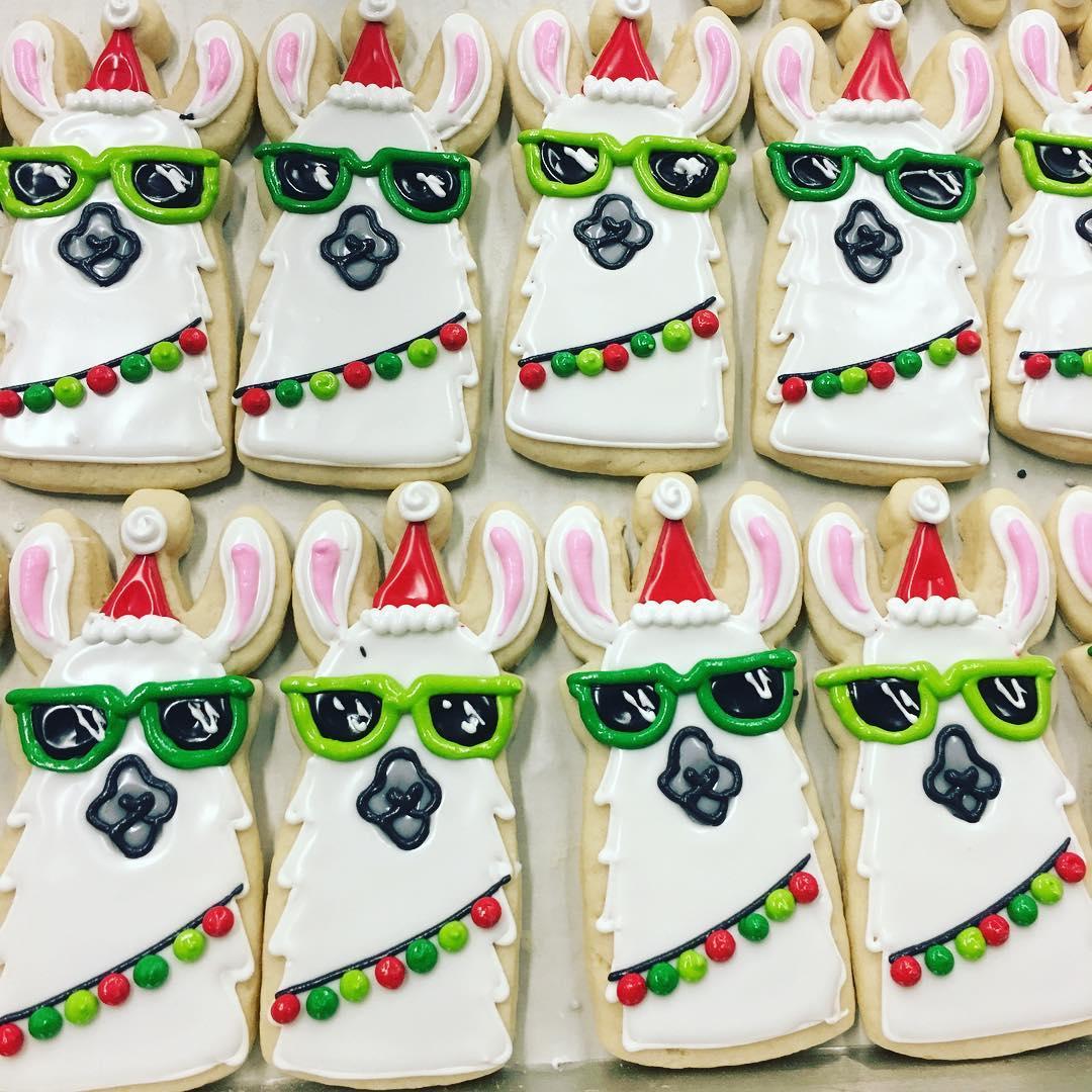 Llama Christmas.Christmas Llama Cookies