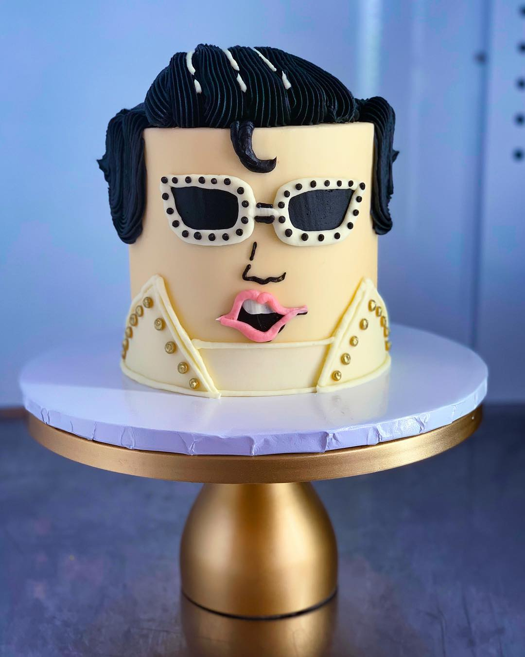 Stupendous Elvis Cake Hayley Cakes And Cookieshayley Cakes And Cookies Birthday Cards Printable Opercafe Filternl