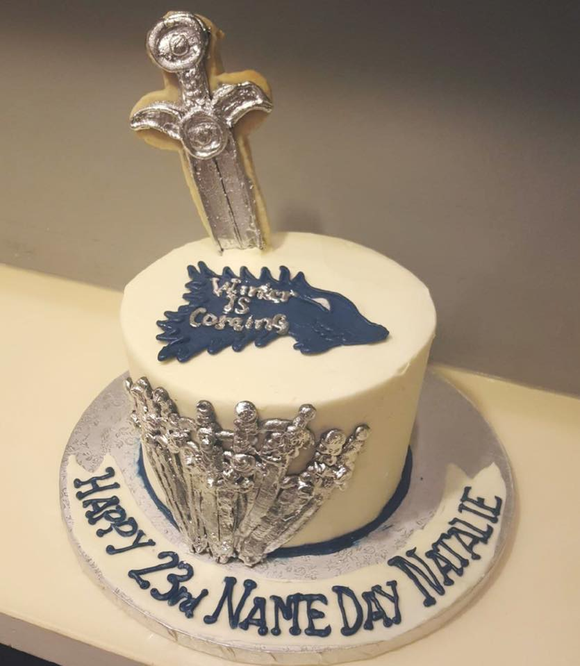 Marvelous Winter Is Coming Game Of Thrones Birthday Cake Hayley Cakes And Funny Birthday Cards Online Overcheapnameinfo