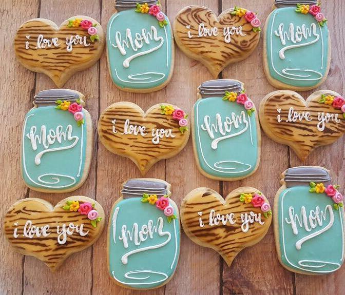як задекорувати печиво на день матері