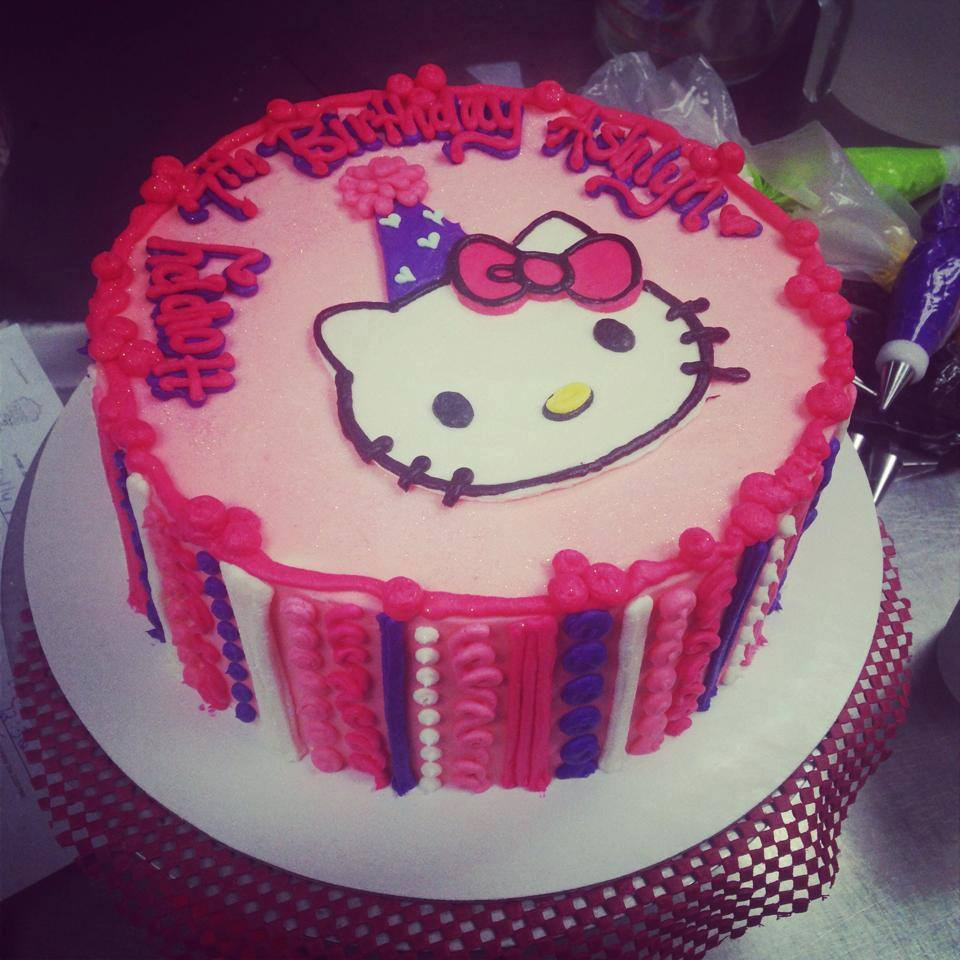 Awesome Hello Kitty Birthday Cake Hayley Cakes And Cookieshayley Cakes Personalised Birthday Cards Cominlily Jamesorg