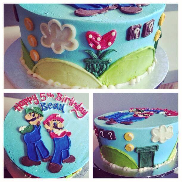 Marvelous Mario Bros Birthday Cake Hayley Cakes And Cookieshayley Cakes Funny Birthday Cards Online Elaedamsfinfo