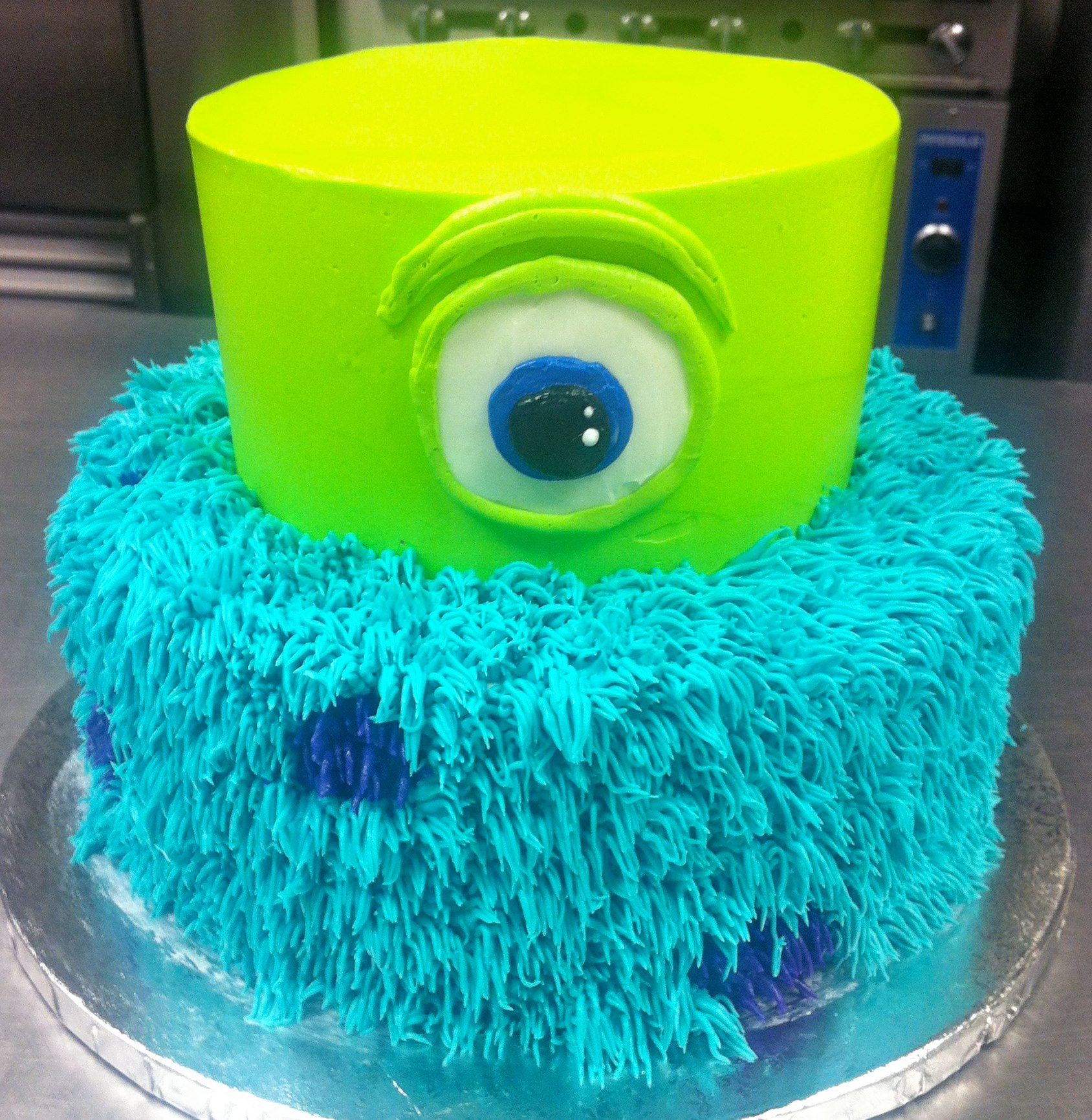 Excellent Monsters Inc Cake Hayley Cakes And Cookieshayley Cakes And Cookies Personalised Birthday Cards Veneteletsinfo