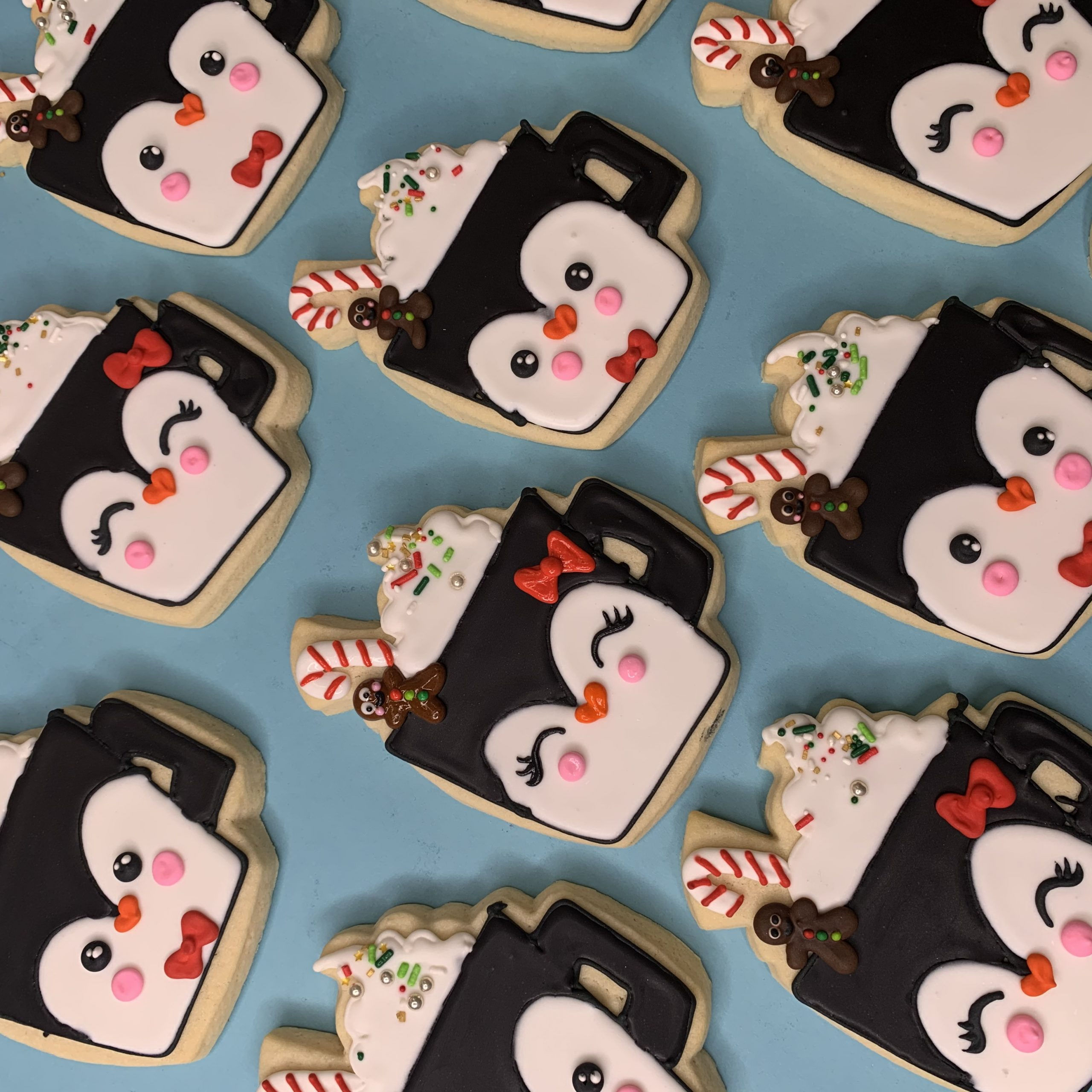Penguin Christmas Mug Cookies Hayley Cakes And Cookieshayley Cakes And Cookies